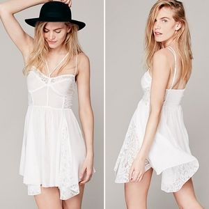 Free People Strappy Front Fit and Flare Slip